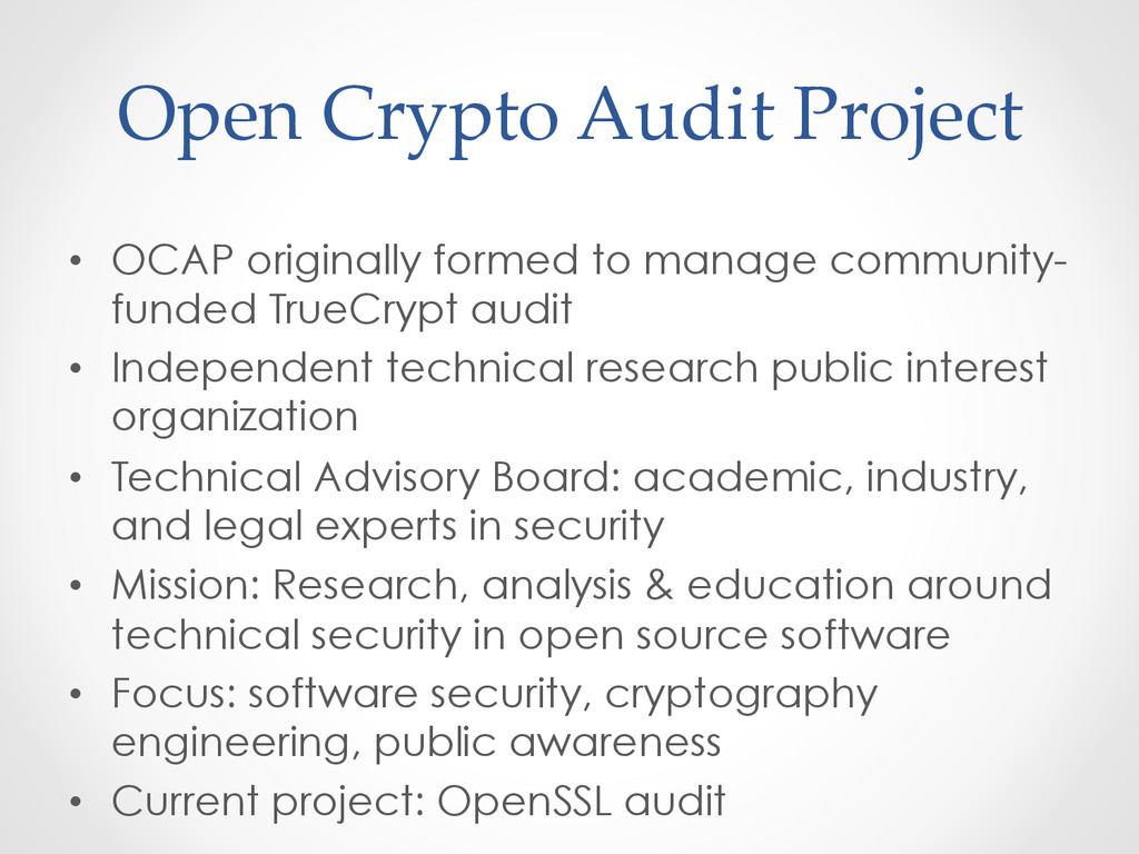 Open Crypto Audit Project • OCAP original...