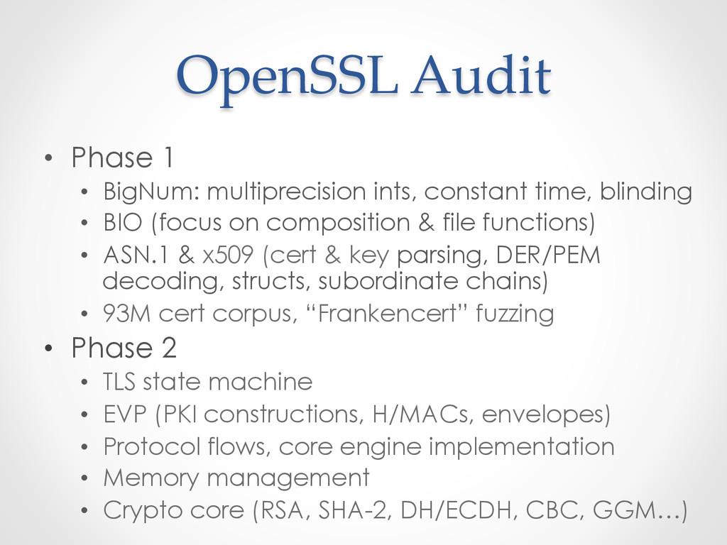OpenSSL Audit • Phase 1 • BigNum: multipre...