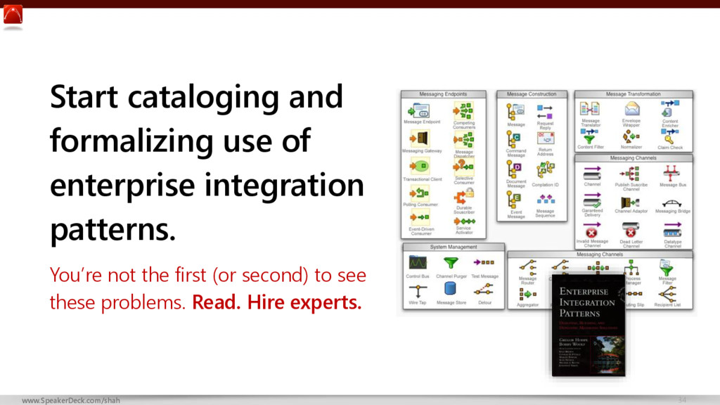 34 www.SpeakerDeck.com/shah Start cataloging an...