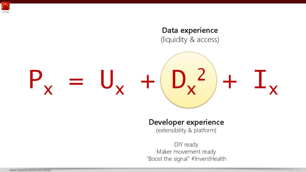 7 www.SpeakerDeck.com/shah P x = U x + D x 2 + ...
