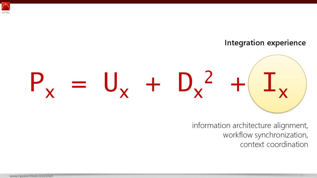 8 www.SpeakerDeck.com/shah P x = U x + D x 2 + ...