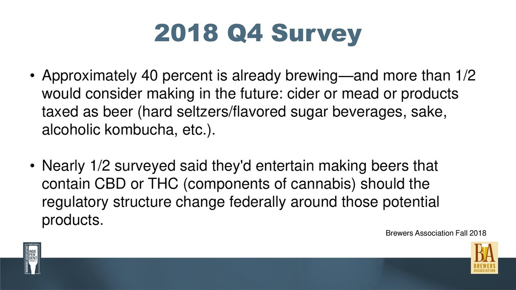 2018 Q4 Survey • Approximately 40 percent is al...