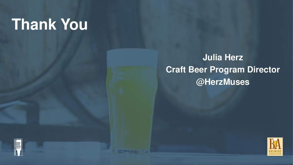Thank You Julia Herz Craft Beer Program Directo...
