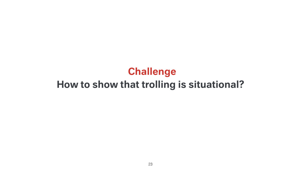 How to show that trolling is situational? 23 Ch...