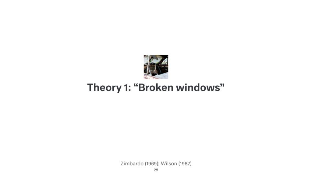 "Zimbardo (1969); Wilson (1982) Theory 1: ""Broke..."