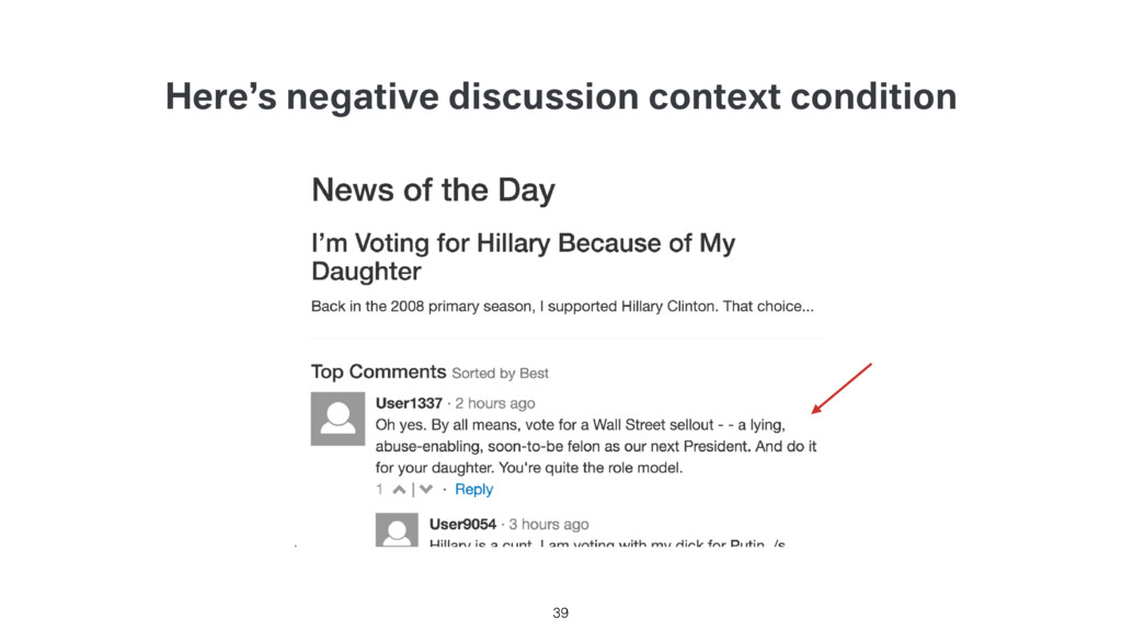 Here's negative discussion context condition 39