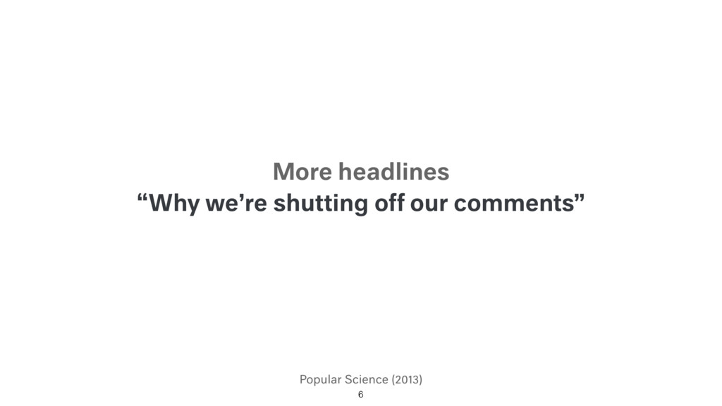 """Popular Science (2013) """"Why we're shutting off ..."""