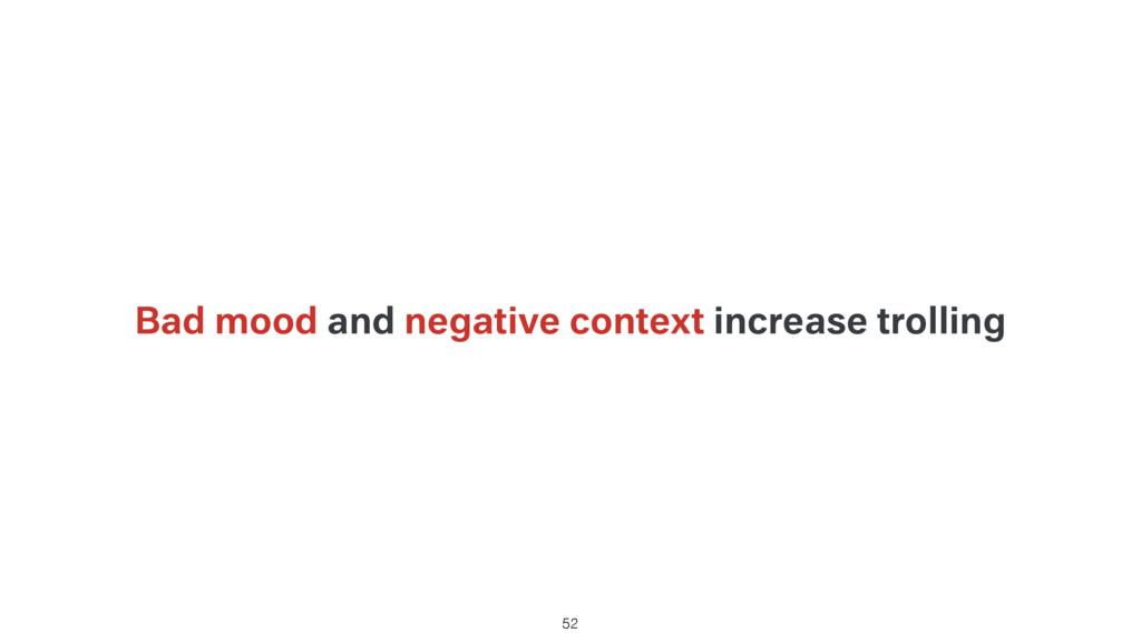 Bad mood and negative context increase trolling...