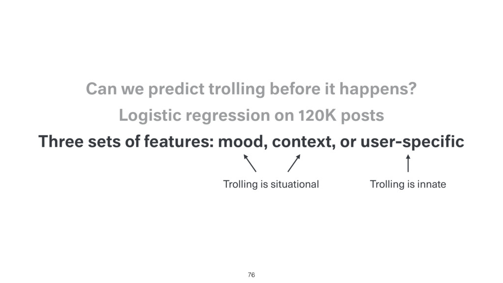 Three sets of features: mood, context, or user-...