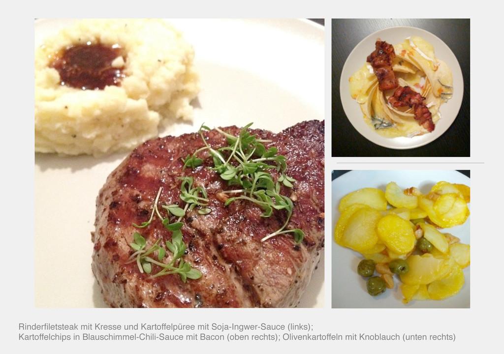 Rinderfiletsteak mit Kresse und Kartoffelpüree m...