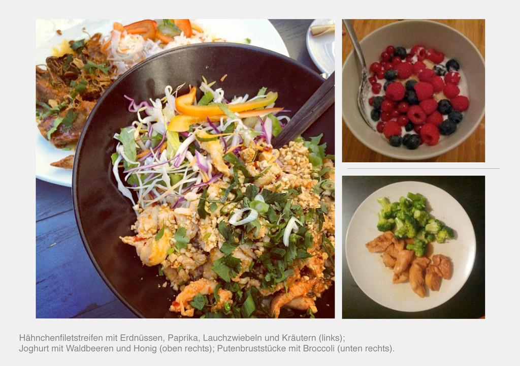 Hähnchenfiletstreifen mit Erdnüssen, Paprika, La...