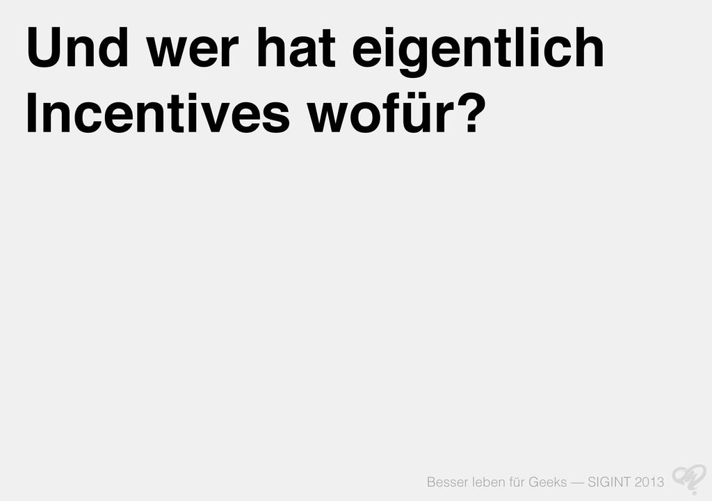 Besser leben für Geeks — SIGINT 2013 Und wer ha...