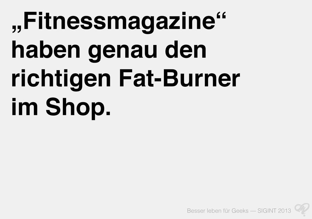 """Besser leben für Geeks — SIGINT 2013 """"Fitnessma..."""