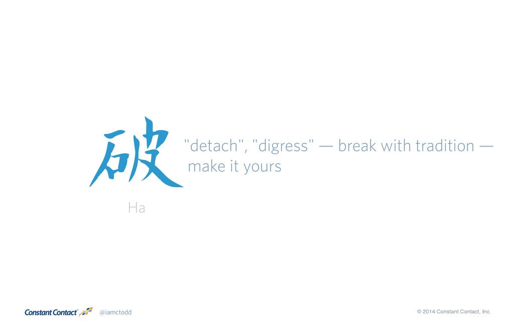 """@iamctodd © 2014 Constant Contact, Inc. """"detach..."""