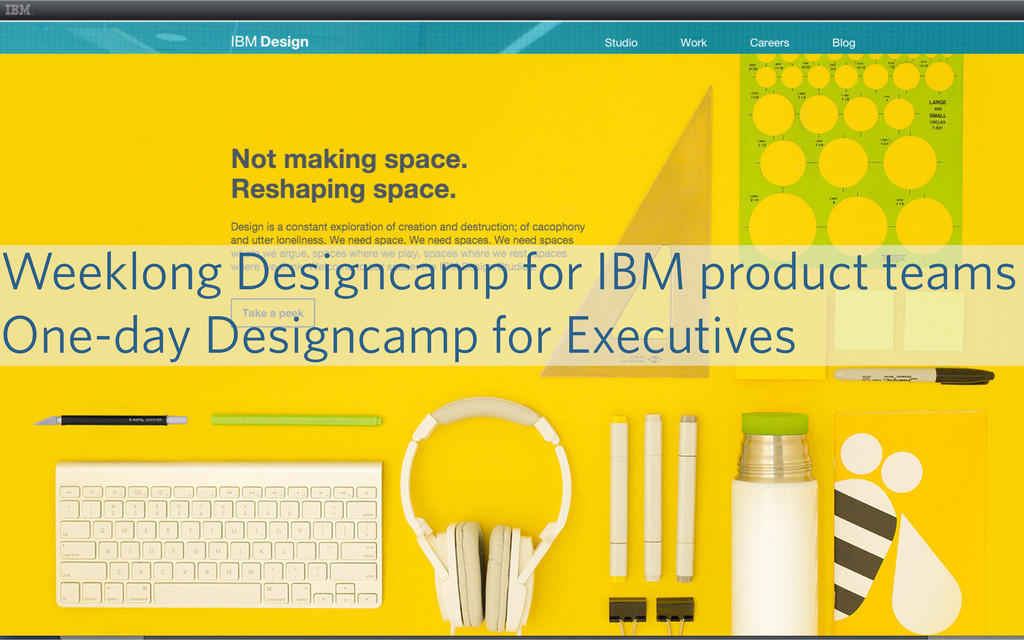 23 Weeklong Designcamp for IBM product teams On...
