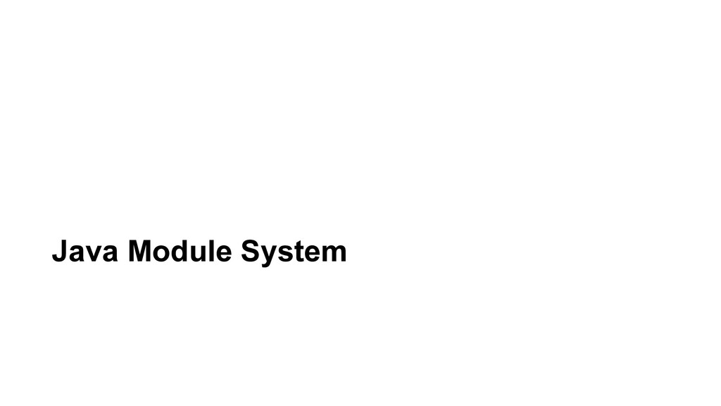 Java Module System