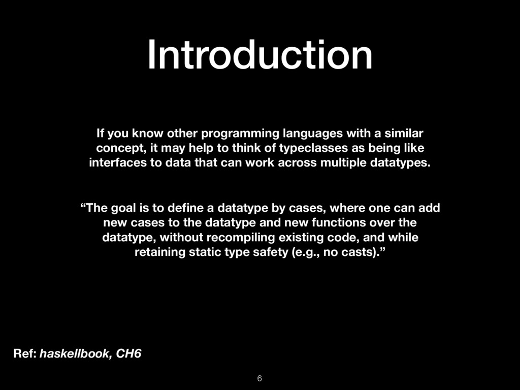 Introduction 6 If you know other programming la...