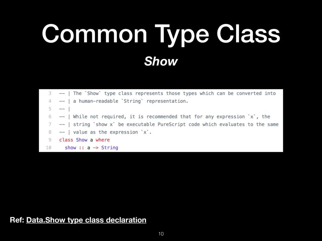 Common Type Class 10 Show Ref: Data.Show type c...