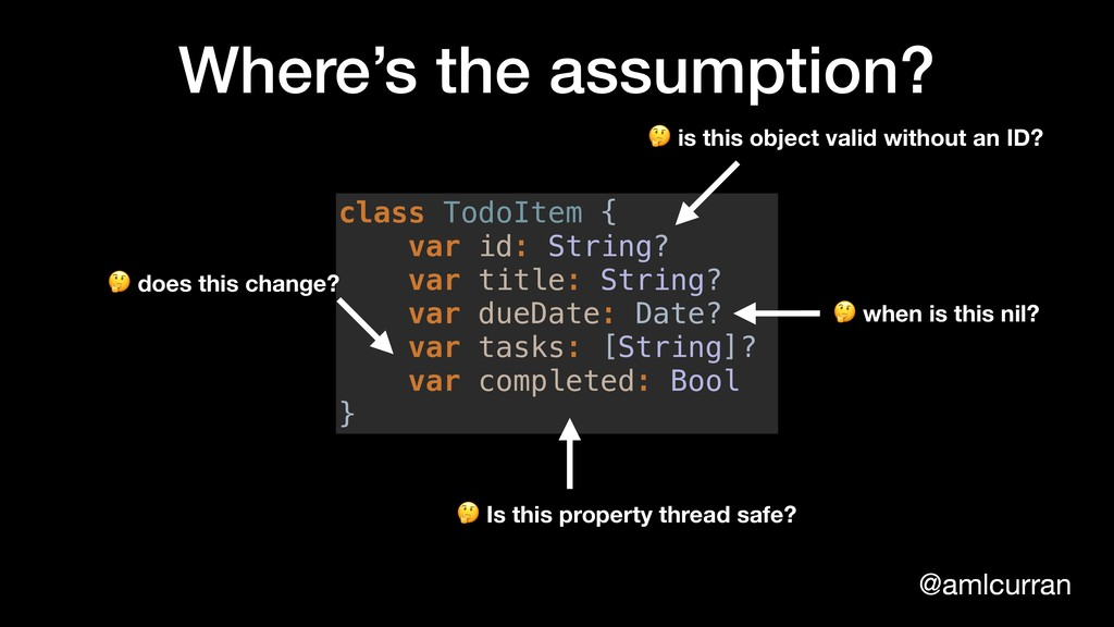 @amlcurran Where's the assumption? class TodoIt...