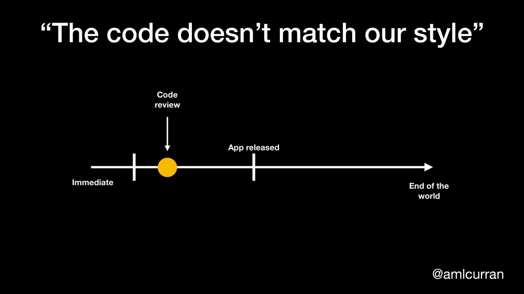 """@amlcurran """"The code doesn't match our style"""" I..."""
