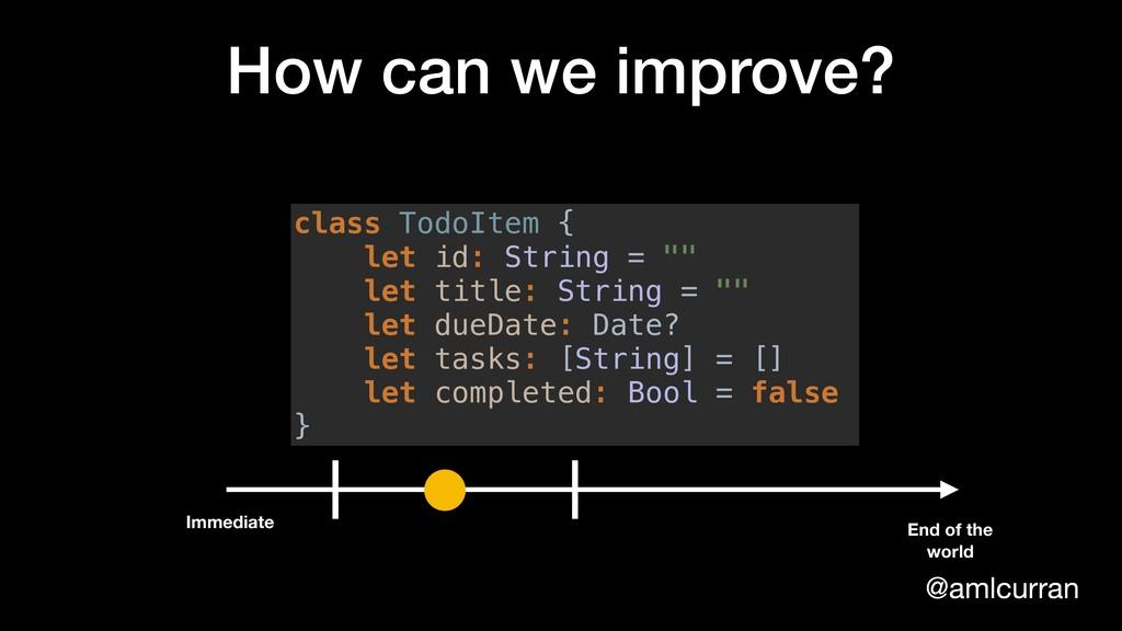 @amlcurran How can we improve? class TodoItem {...