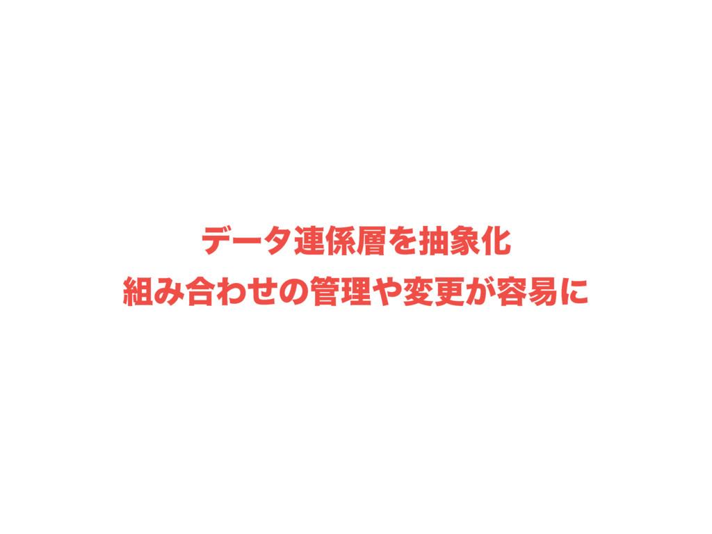 σʔλ࿈ΛநԽ Έ߹Θͤͷཧมߋ͕༰қʹ