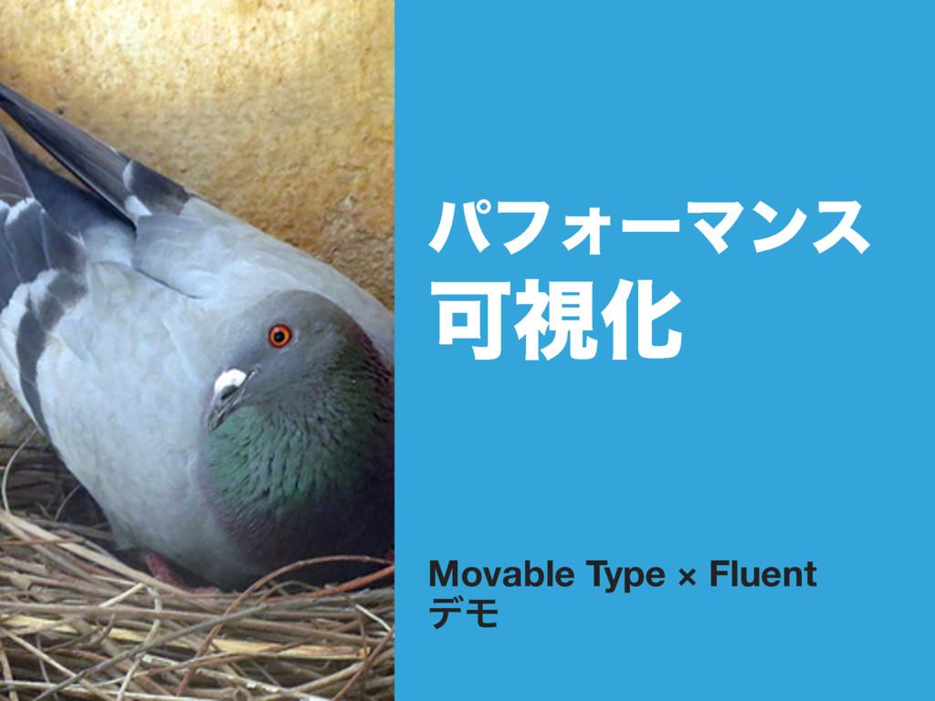 ύϑΥʔϚϯε ՄࢹԽ Movable Type × Fluent σϞ
