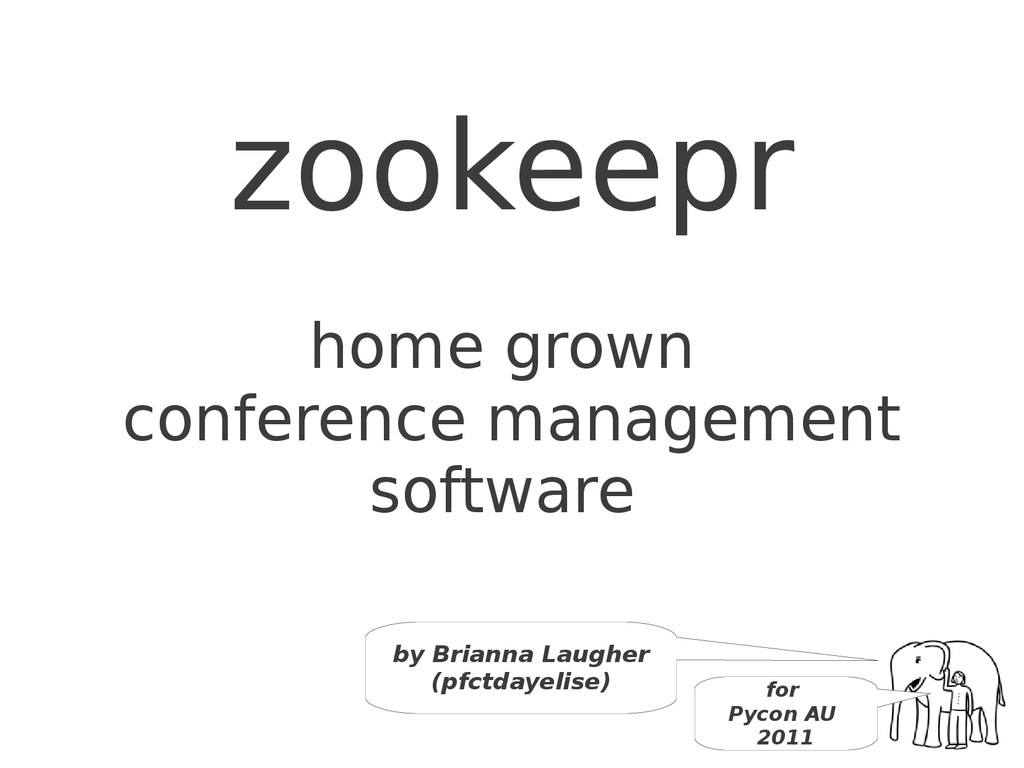 zookeepr home grown conference management softw...