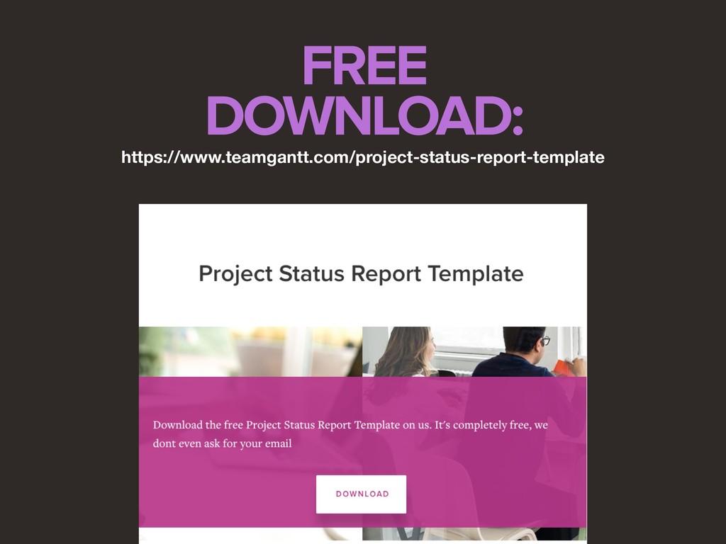 FREE DOWNLOAD: https://www.teamgantt.com/projec...