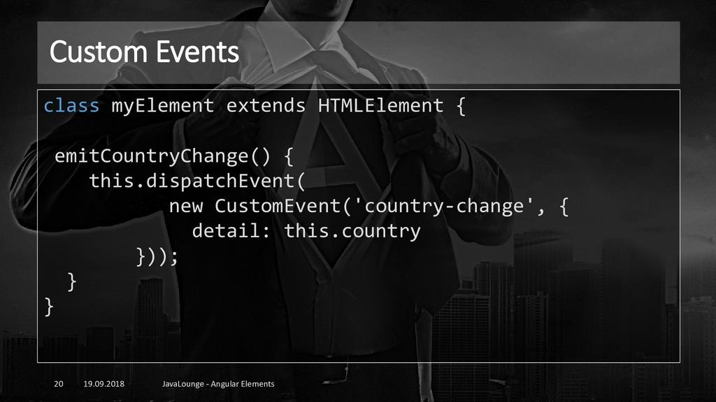 Custom Events 19.09.2018 JavaLounge - Angular E...