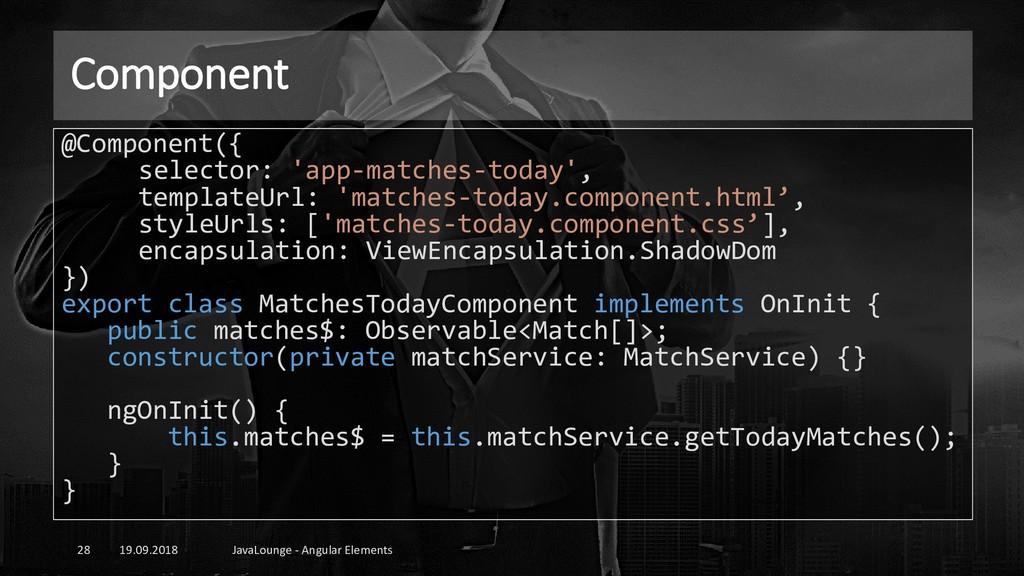 Component 19.09.2018 JavaLounge - Angular Eleme...