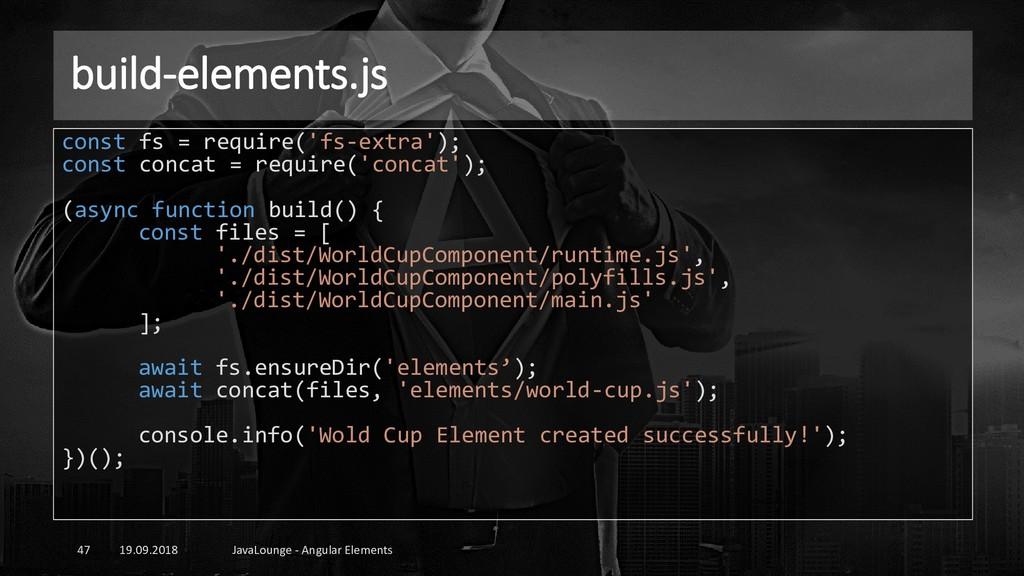 build-elements.js 19.09.2018 JavaLounge - Angul...