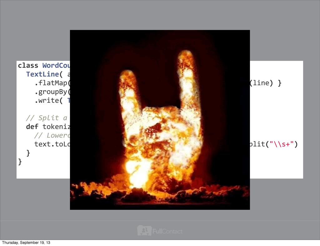class WordCountJob(args : Args) ext...