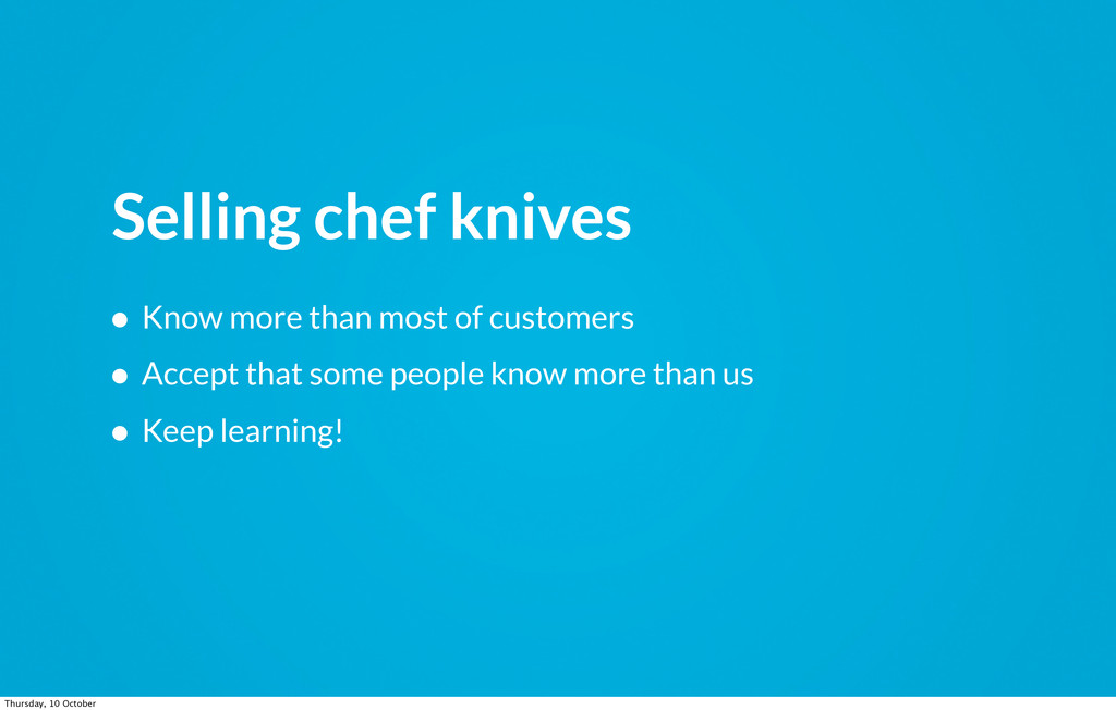 Selling chef knives • Know more than most of cu...