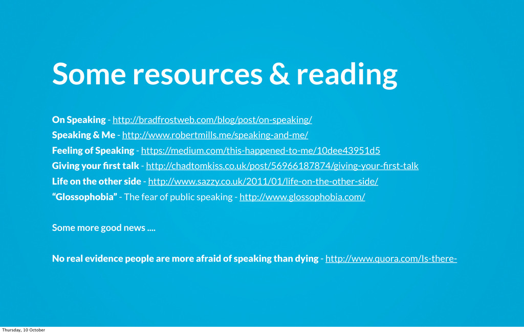 Some resources & reading On Speaking - http://b...