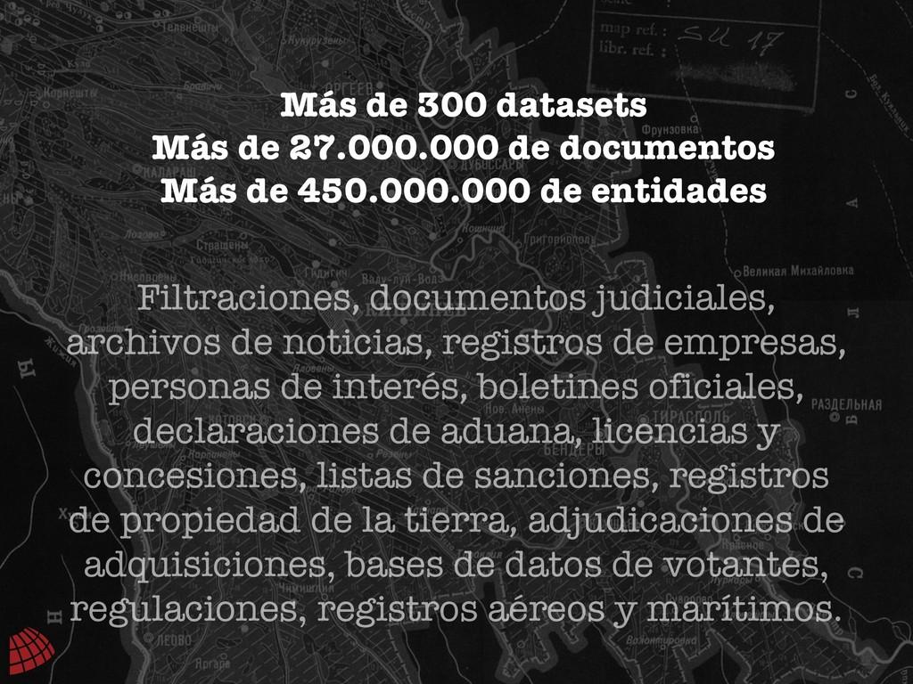 Filtraciones, documentos judiciales, archivos d...