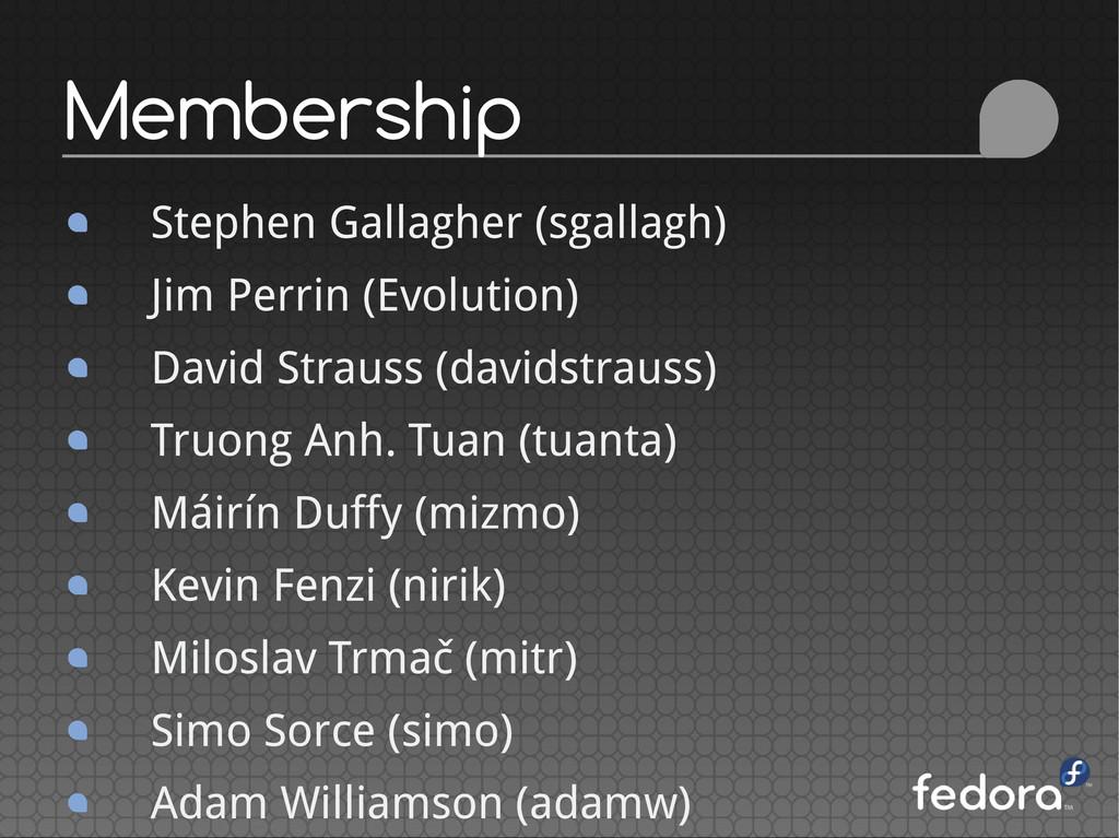 Stephen Gallagher (sgallagh) Jim Perrin (Evolut...
