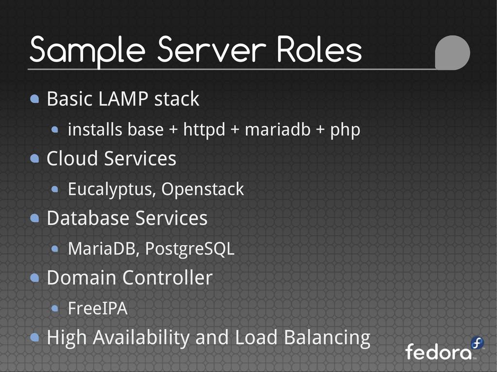 Basic LAMP stack installs base + httpd + mariad...