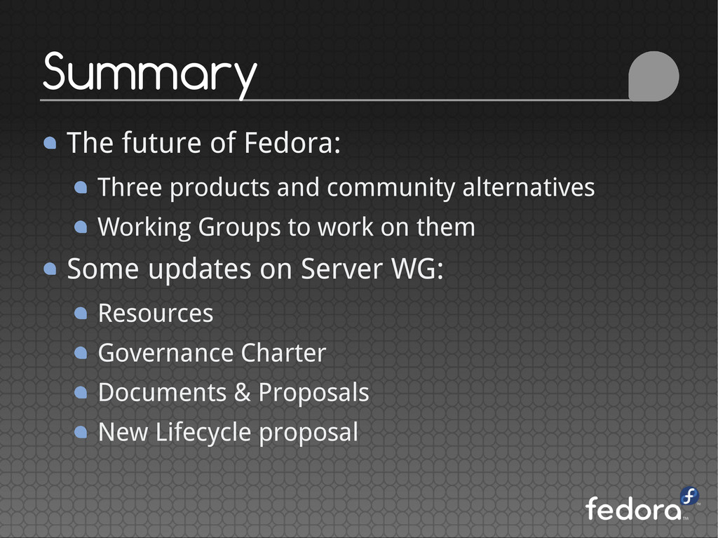 The future of Fedora: Three products and commun...