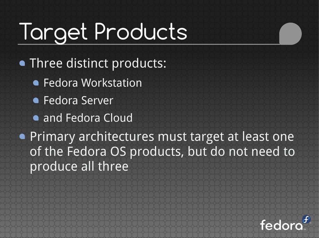 Three distinct products: Fedora Workstation Fed...