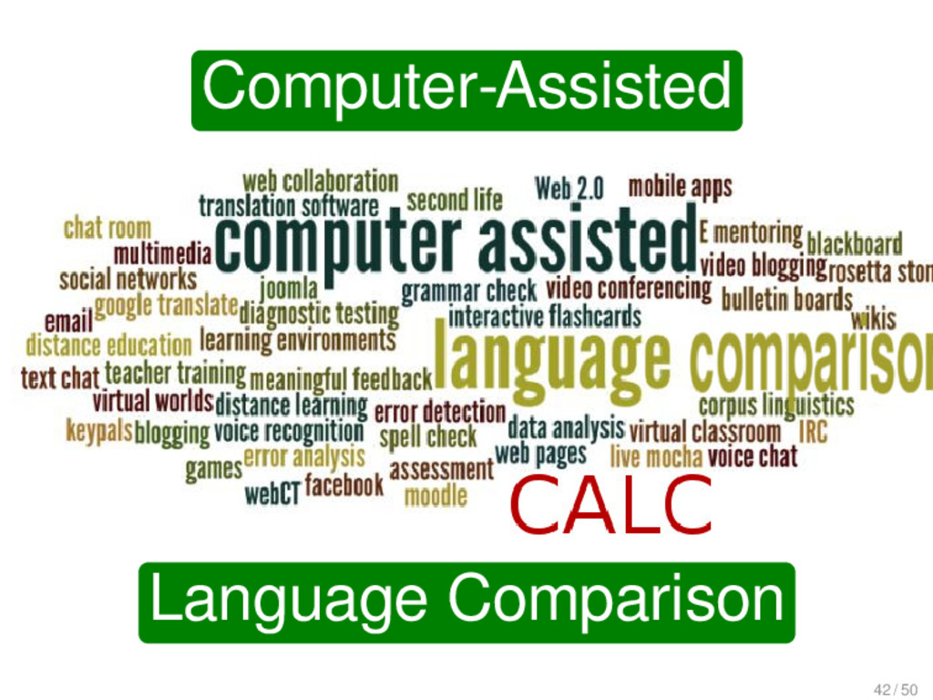 Computer-Assisted Language Comparison 42 / 50