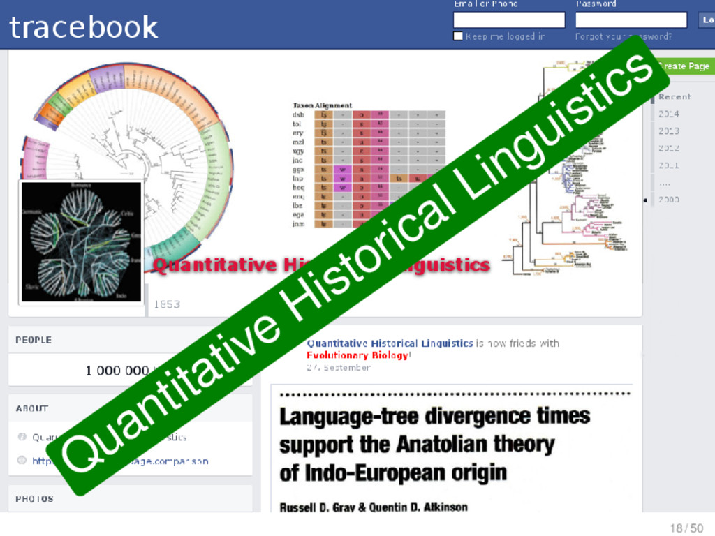Quantitative Historical Linguistics 18 / 50