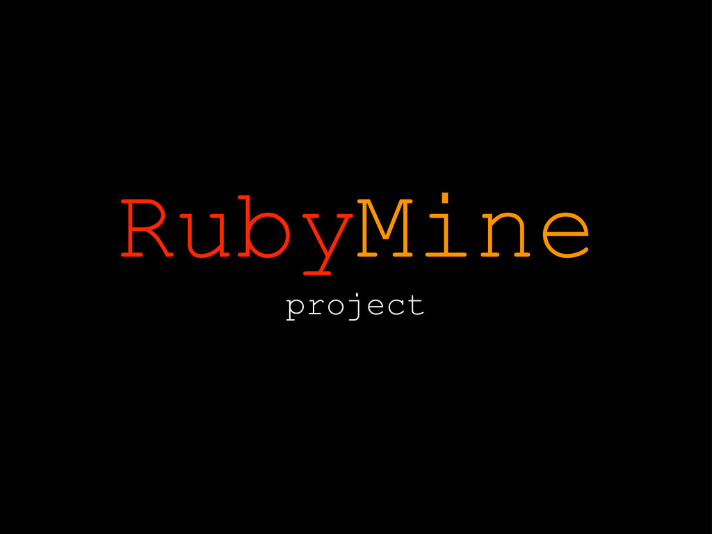 RubyMine project