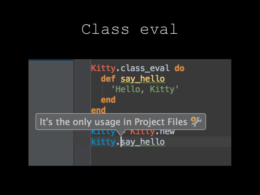 Class eval