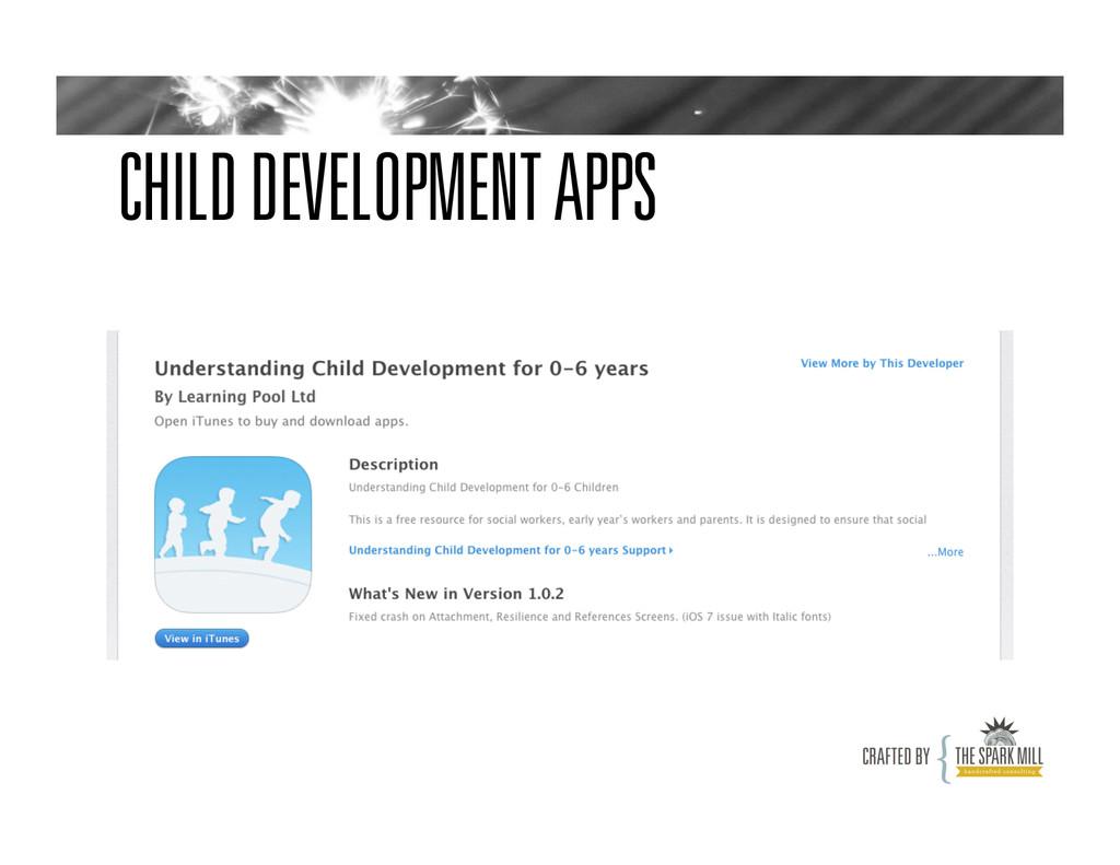 CHILD DEVELOPMENT APPS