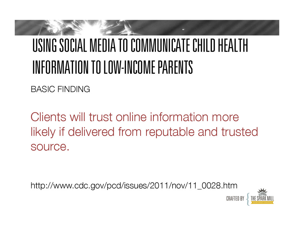 USING SOCIAL MEDIA TO COMMUNICATE CHILD HEALTH ...