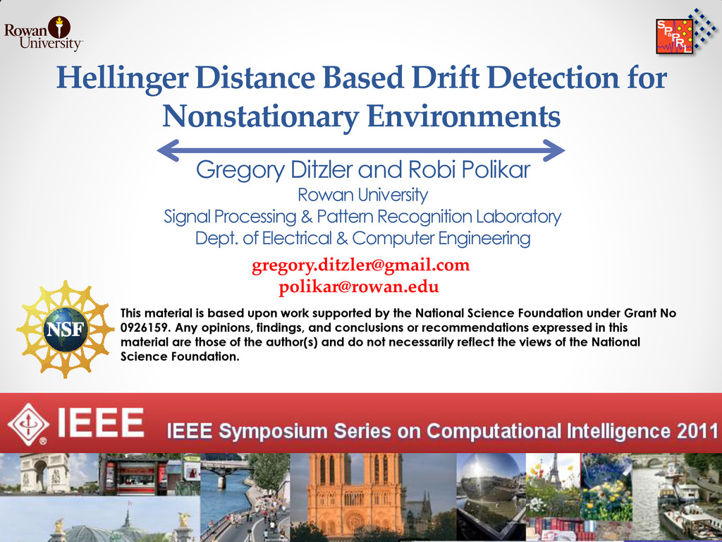 Hellinger Distance Based Drift Detection for No...
