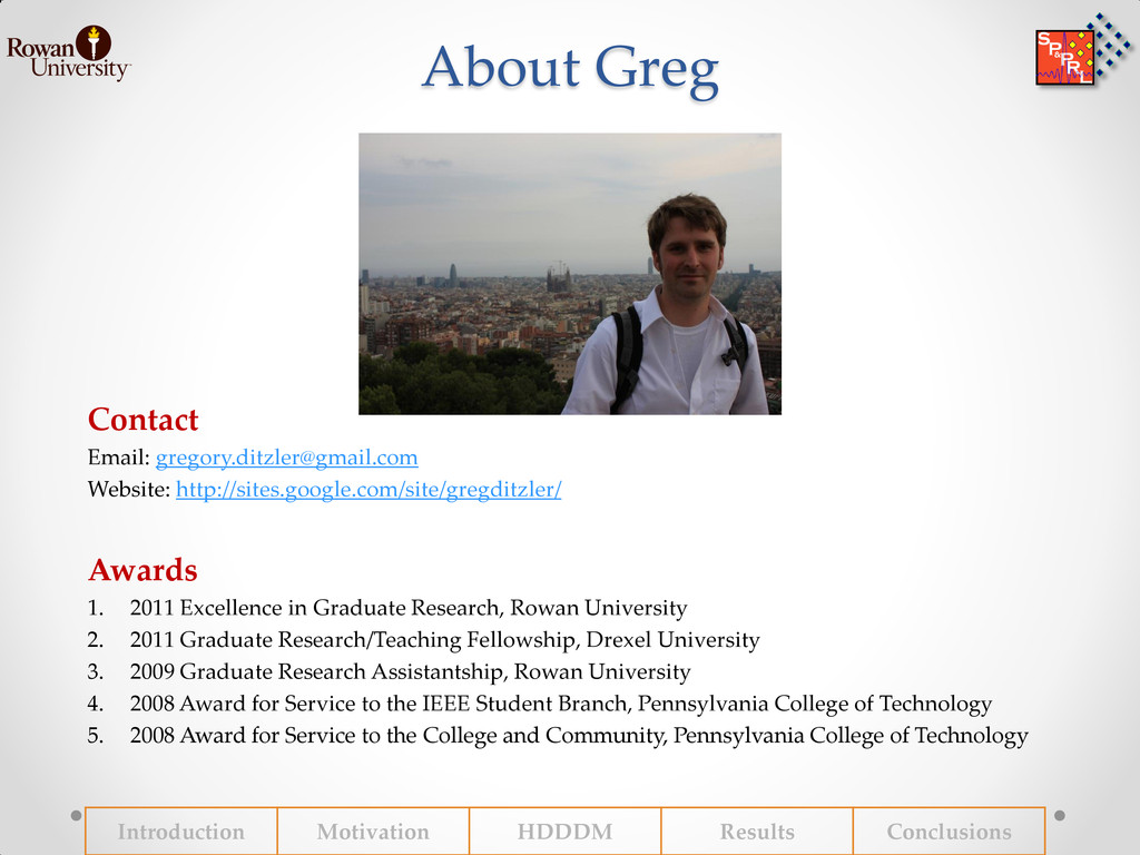 About Greg Contact Email: gregory.ditzler@gmail...
