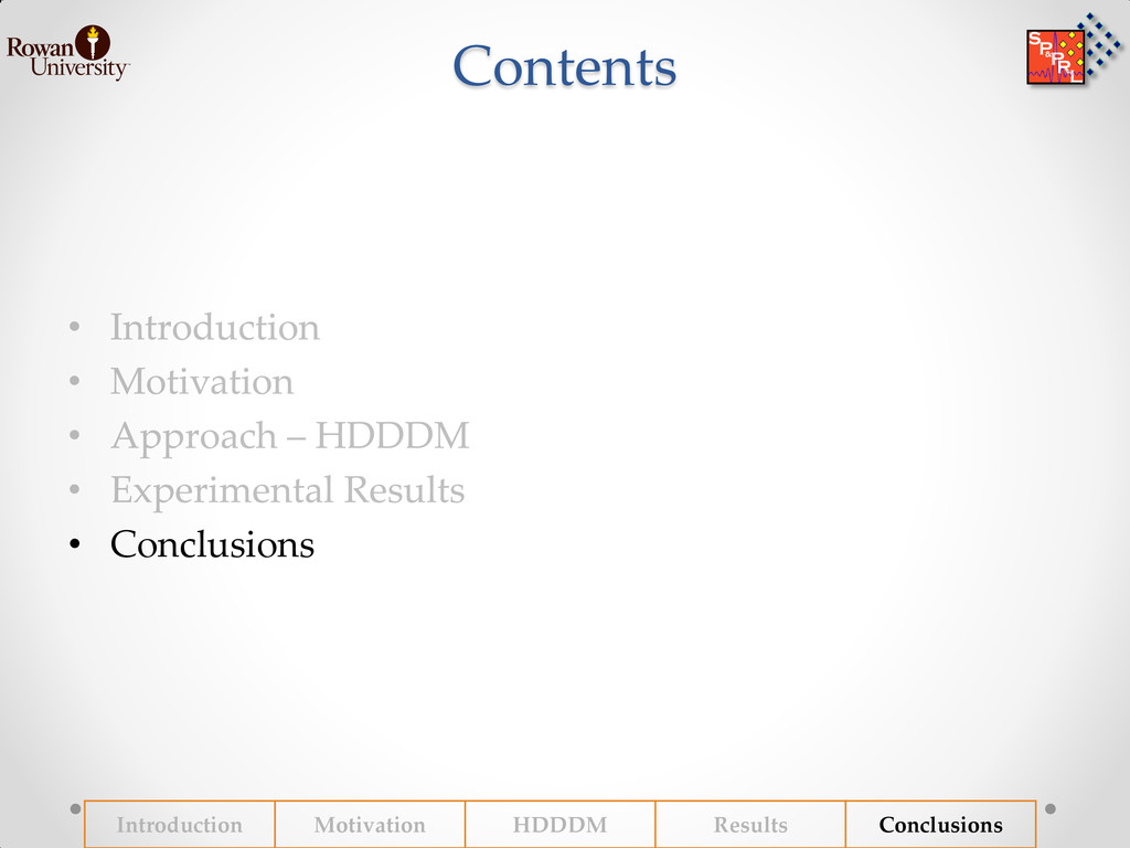 Contents • Conclusions Introduction Motivation ...