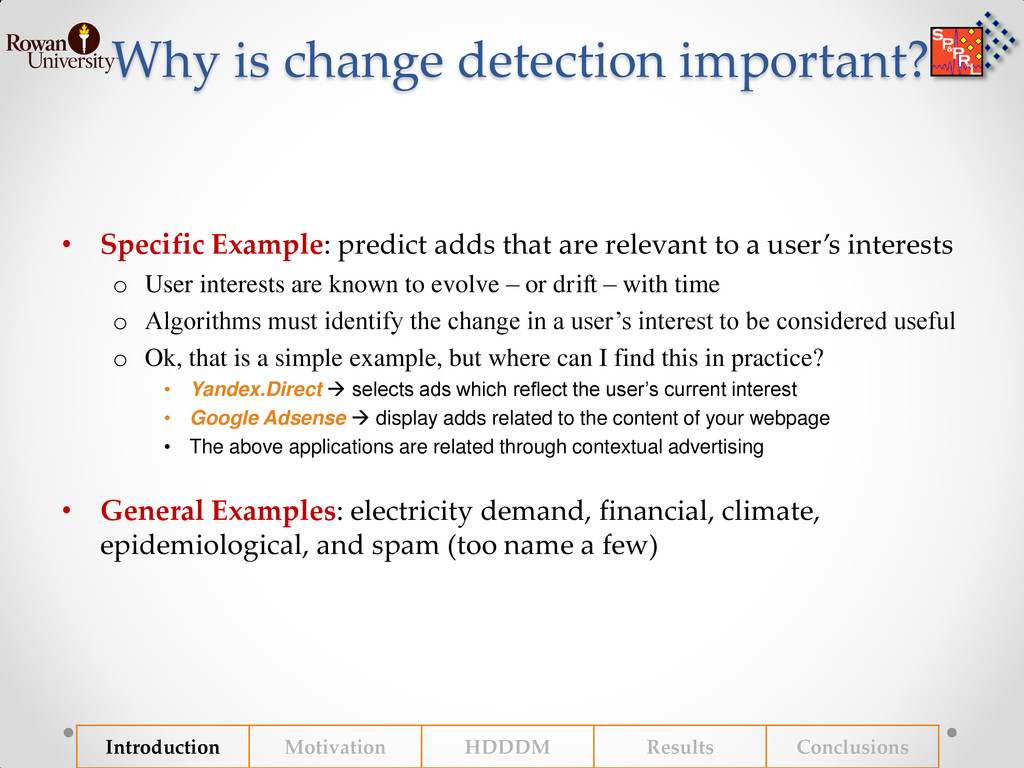 Why is change detection important? • Specific E...
